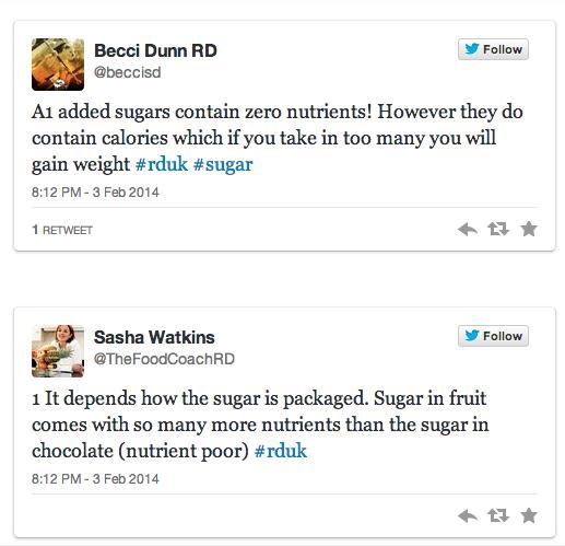 Becci Sasha tweet sugar