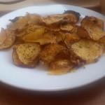 home-baked sweet potato crisps