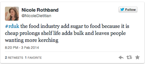 Nicole tweet sugar