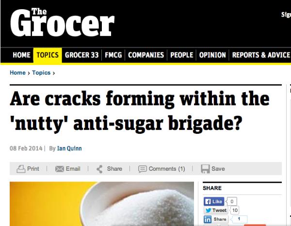 grocer sugar headline
